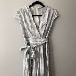 URBAN OUTFITTERS Blue and White Jumpsuit